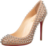 Christian Louboutin Fifi Spikes Red Sole Pump, Corde