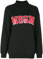 MSGM roll neck sweatshirt - women - Cotton - XS