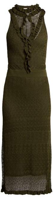 Altuzarra Butterfield Pointelle Knit Dress - Womens - Dark Green