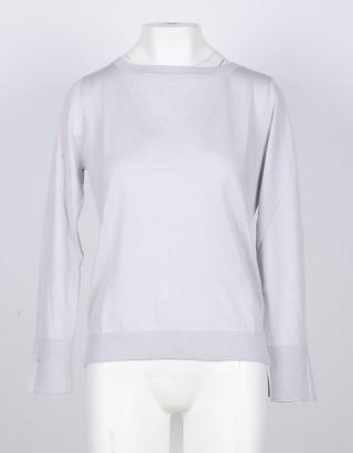 Snobby Sheep Ice Gray Silk/Cashmere Blend Women's Sweater
