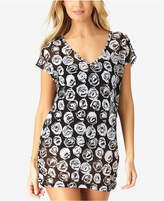 Anne Cole Coming Up Roses Mesh Tunic Cover-Up, Created for Macy's Style Women's Swimsuit