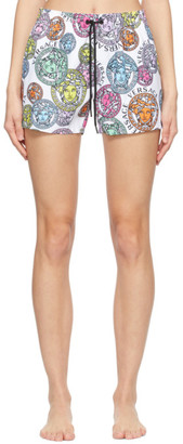 Versace Underwear Multicolor Medusa Amplified Swim Print Shorts