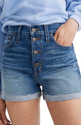 Madewell High Waist Denim Shorts: Button Front Edition