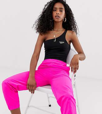 Reebok one shoulder black bodysuit exclusive to ASOS