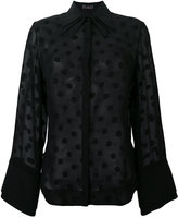 Capucci flared polka dot blouse - women - Silk - 40