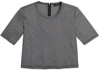 Rag & Bone Quinn Zip Short-Sleeve Top