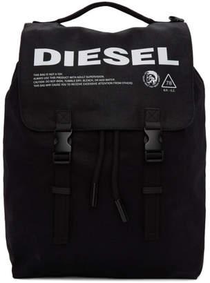 Diesel Black Volpago Backpack