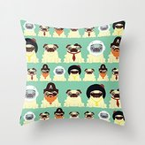 Generic Pug pattern Cute Canvas Throw Pillow Case Decorative Pillow Covers for Kids Pillowcase 18 x 18