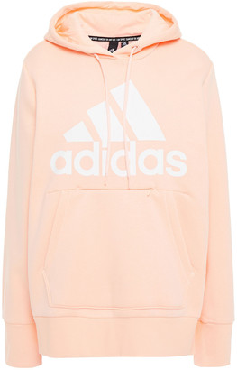 adidas Printed Cotton-blend Fleece Hoodie