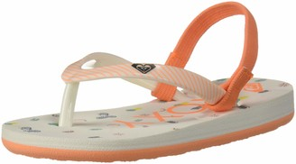 Roxy Kids' TW Pebbles VI Flip Flop Sandals