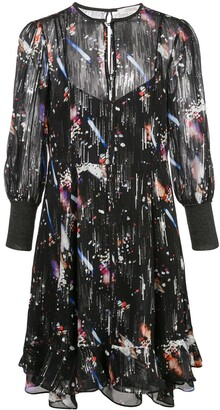 Schumacher Dorothee Tokyo Lights cropped sleeve dress
