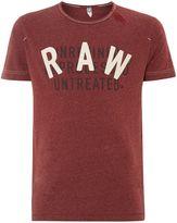 G Star Men's large logo print dark red t-shirt