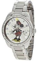 Ingersoll Women's IND 26165 Disney Classic Minnie Diamante Silver-Tone Watch