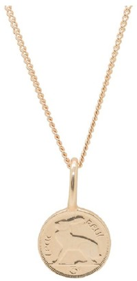 Katie Mullally Irish 3D Coin Rose Gold Plated Necklace