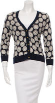 Tory Burch Patterned V-Neck Cardigan