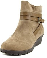 Kenneth Cole Reaction Simona Wrap Round Toe Canvas Ankle Boot.