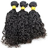 Atina Hair Brazilian Wet and Wavy Hair Weave 3 bundles a lot,100% unprocessed virgin human hair weave,Natural color super soft (20 22 24)