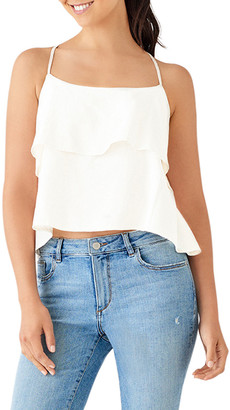 DL1961 Premium Denim Downing Layered Ruffle Tank