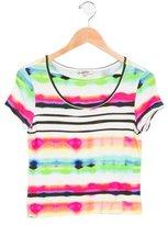 Junior Gaultier Girls' Printed Short Sleeve Top