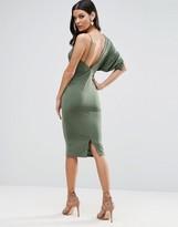 Asos One Sleeve Asymmetric Midi Dress