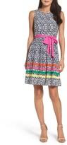 Eliza J Women's Stripe Fit & Flare Dress