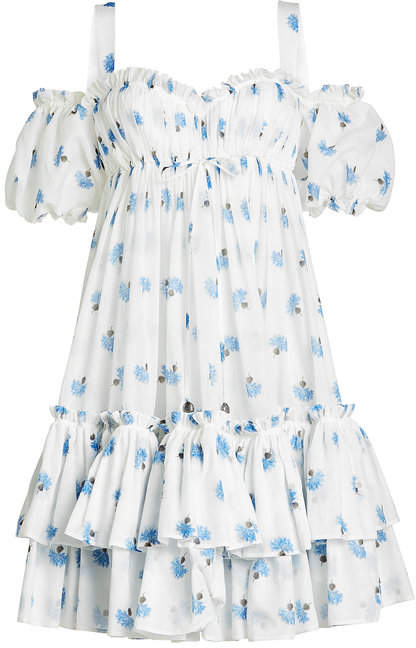 Alexander McQueen Printed Cotton Dress