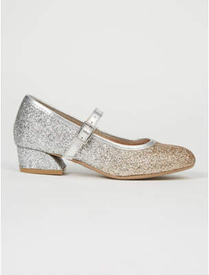 George Silver Glitter Ombre Heeled Shoes