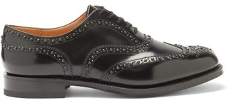 Church's Burwood Rubber-sole Studded Leather Oxford Shoes - Black