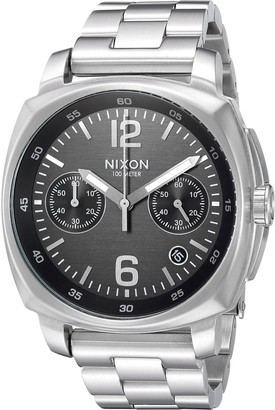 Nixon Men's 'Charger Chrono' Quartz Metal and Stainless Steel Watch