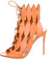 Gianvito Rossi Cutout Lace-Up Sandals w/ Tags