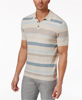 Alfani Men's Striped Knit-Polo, Created for Macy's