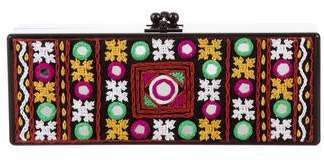 Edie Parker Flavia Panel Embroidery Clutch