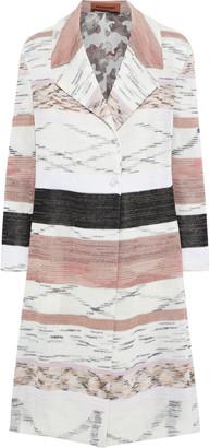 Missoni Striped Crochet-knit Linen-blend Coat
