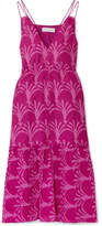 Apiece Apart Daphne Printed Cotton And Silk-blend Dress - Pink