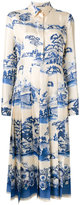 Gucci Porcelain Garden midi dress - women - Silk - 42