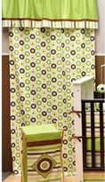Bacati Mod Dots and Stripes Green Curtain Panel
