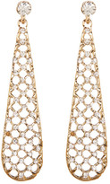 Natasha Accessories Crystal Lattice Teardrop Earrings