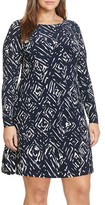 Lauren Ralph Lauren Plus Size Women's Print Jersey Shift Dress