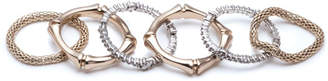 Alexis Bittar Bamboo Stack Rings, Set of 6, Size 7