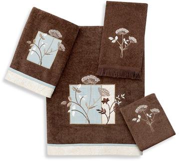 Avanti Queen Anne Mocha Bath Towels, 100% Cotton