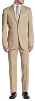 Hart Schaffner Marx Tan Woven Two Button Notch Lapel Cotton Suit