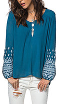 O'Neill Mariana Embroidered Peasant Top