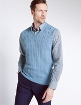 Marks and Spencer Pure Cotton Textured Slipover Jumper