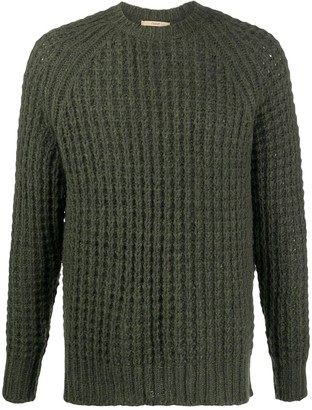 Nuur Waffle-Knit Crew Neck Jumper