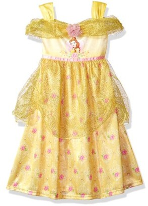 Disney Beauty and the Beast Belle Toddler Girls Fantasy Nightgown Pajamas (2T-4T)