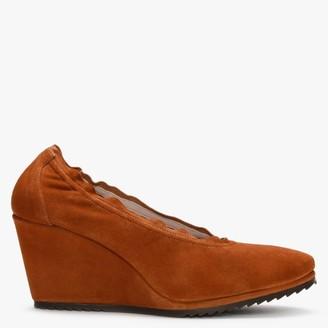 Daniele Ancarani Stretch Tan Suede Wedge Shoes