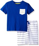 Nautica Toddler Boys' Two Piece Set with V-Neck Tee with Knit Short