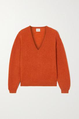 KHAITE Cashmere-blend Sweater - Orange