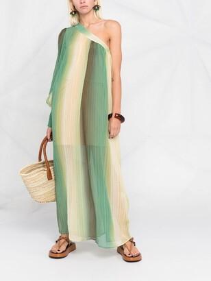 Anjuna One-Shoulder Plisse-Effect Maxi Dress