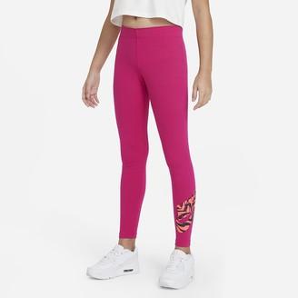 Nike Big Kids' (Girls') Graphic Leggings Sportswear Favorites